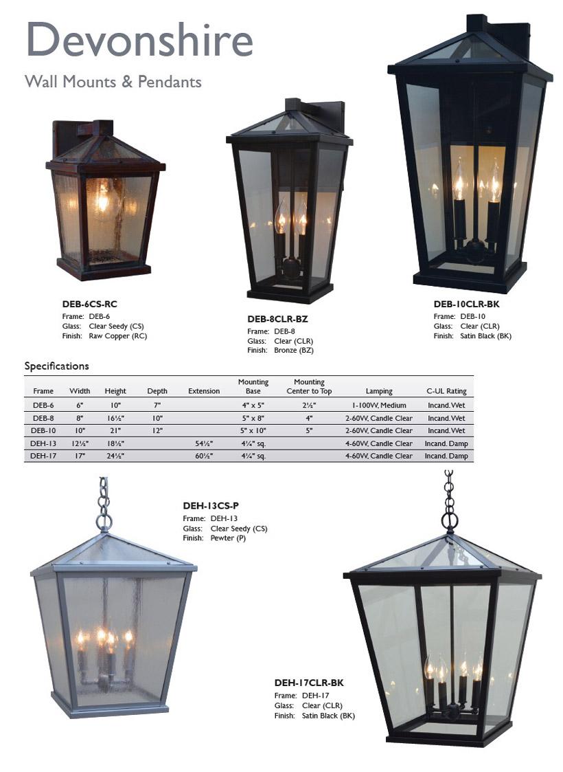 Arroyo Craftsman Lighting Devonshire
